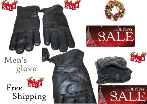 Men/'s GENUINE LAMBSKIN Leather winter  MOTORCYCLE gloves #125 FREE SHIPPING