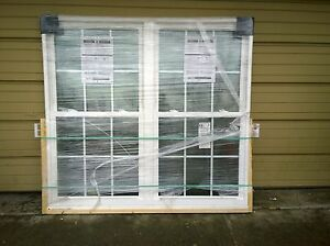 Brand new huge pella home vinyl double double hung window for Home window brands