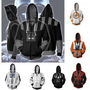 Star Wars Darth Vader Jedi 3D Print Hoodie Sweatshirt Men Zipper Jacket Coat Top
