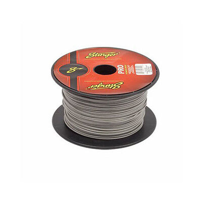50 Foot Cut of Stinger Pro 18 Gauge Grey Remote Turn On Primary Wire SPW318GY