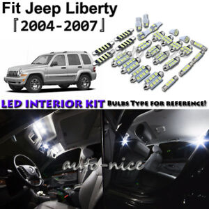 Details About 12x White Led Interior Lights Package Kit For 2004 2005 2006 2007 Jeep Liberty