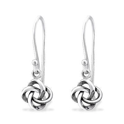 Design 7 925 Sterling Silver Celtic Knot Drop//Dangle Earrings