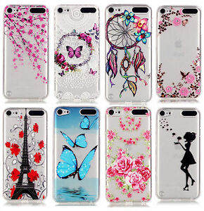 For-iPod-Touch-5th-amp-6th-Gen-TPU-Gummy-Rubber-Transparent-Clear-Case-Cover-Skin