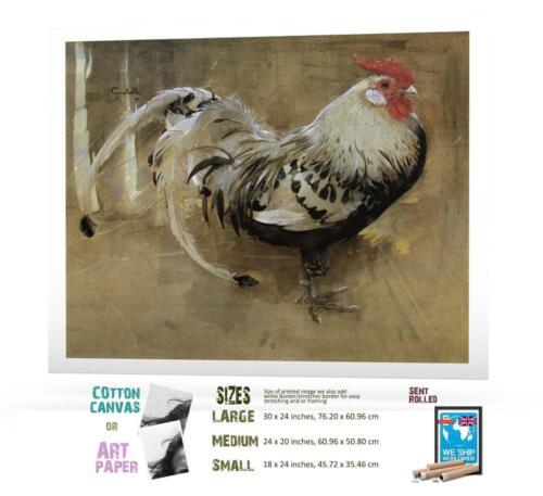 Print Joseph Crawhall Spangled Cock