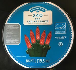 image is loading christmas lights 240 count red led m5 lights