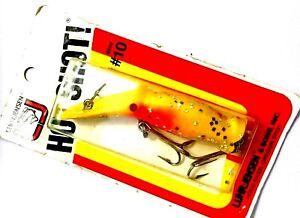 Vintage-NEW-Luhr-Jensen-Size-10-Hot-Shot-Yellow-Glitter-Fishing-Lure-33010C0H