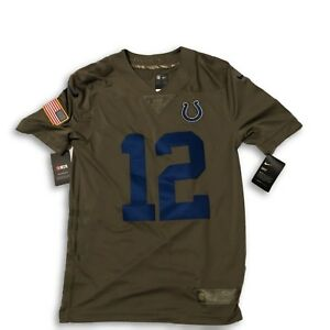 NWT New  12 Andrew Luck Indianapolis Colts Nike Salute To Service ... ea03ff42b
