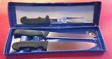 Vintage Kingswood Cutlery Set Chef's Carving Set Knife & Fork Stainless In Box
