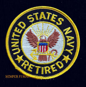 9a6a3f0c6e7 US NAVY RETIRED HAT PATCH EAGLE ANCHOR VETERAN GIFT VETERAN USS PIN ...