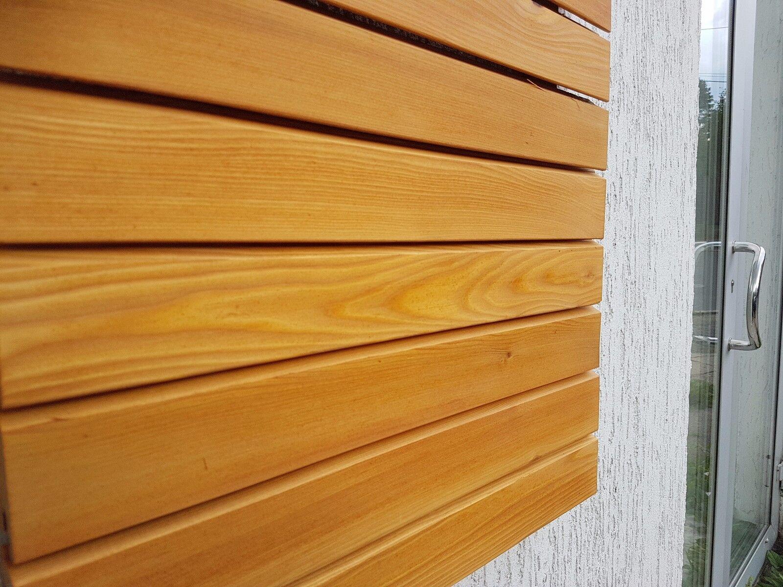 Ca. 34 qm - Rhombusleisten Sibirische Lärche Fassadenverkleidung Fassade 20x68mm