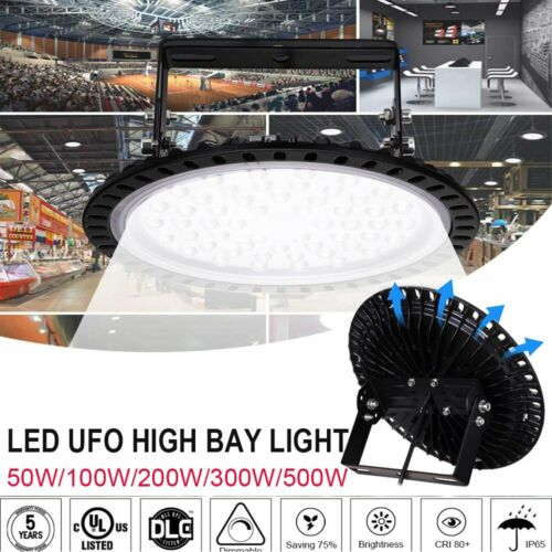 UFO LED High Bay Light 50//100//200//300//500W Low Bay Warehouse Industrial Lights