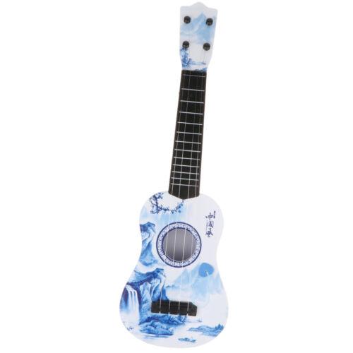 Kindergitarre Musikinstrument Gitarre Spielzeug Ukulele aus Kunststoff