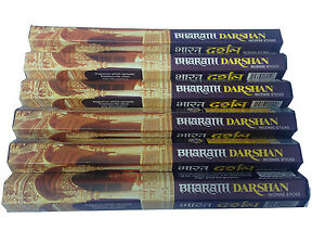 Bharath Darshan Incense Sticks 6 Boxes  x 20 (120) Temple Stregnth Incense Stick
