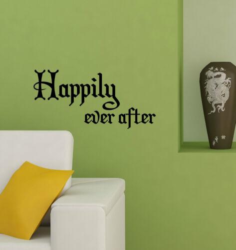 Happily ever after citations decal sticker vinyle mur Art Home Décoration hea1