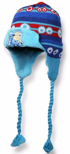Boys Girls Minions Winter Warm Fleece Lined Ski Hat Set From 3-10 Years 770-865