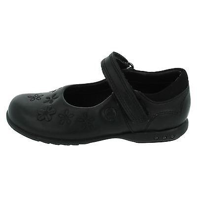 Ausverkauf Clarks 'breenatoes' Mädchen schwarzes Leder Leuchtend Schuhe breit g
