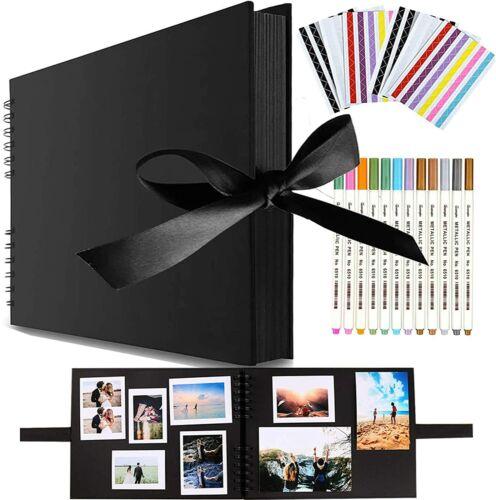 libros de memoria de 80 páginas Álbum de fotos 12 X 8 pulgadas A4 Craft PAP Viwril hágalo usted mismo Álbum de recortes