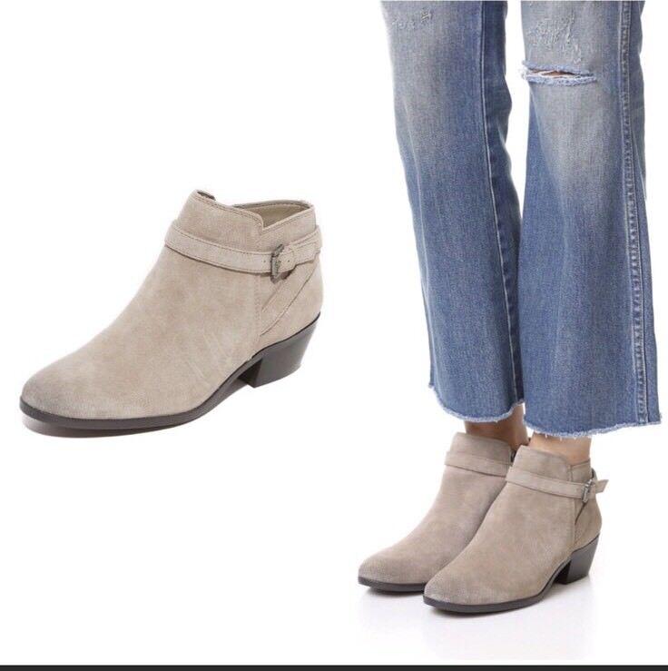 New  150 Sam Edelman Edelman Edelman Pirro Putty Grey Suede Bootie Ankle Stivali Size 6 M 5ee3d3