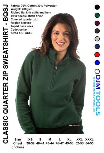 New Personalised Embroidered Classic Quarter Zip Sweatshirt Workwear,UniformLogo