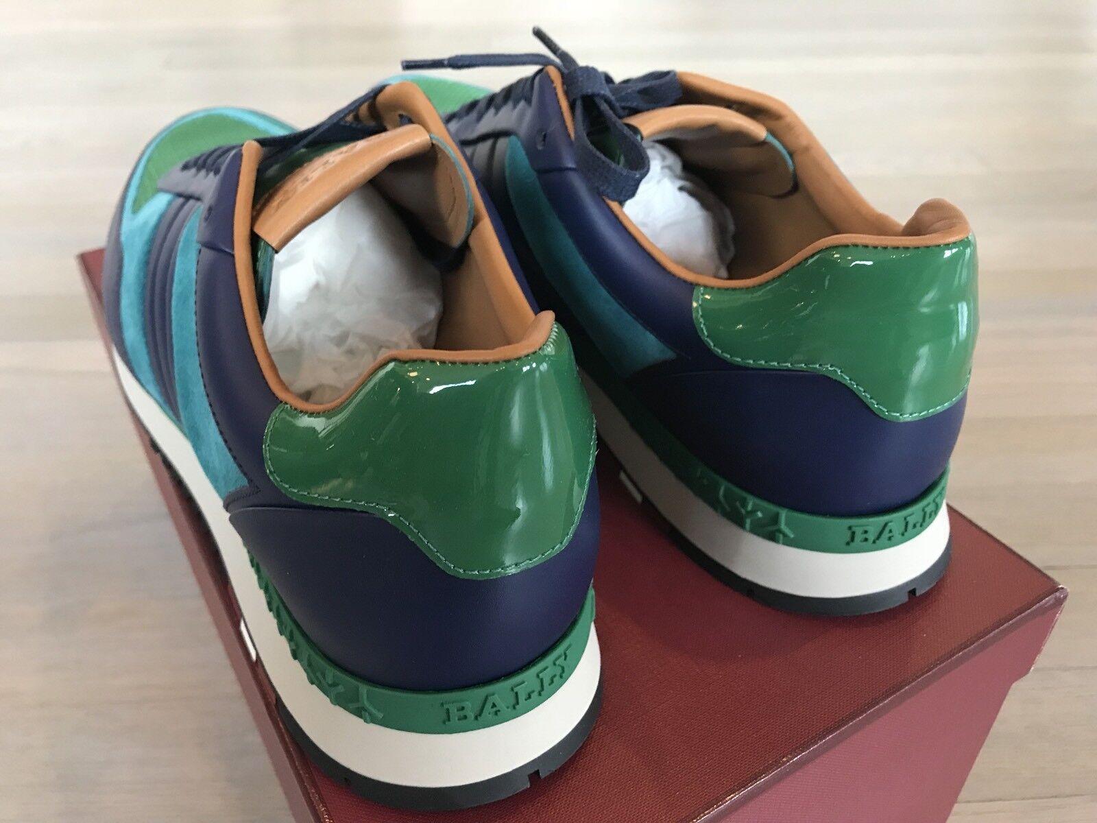 Scarpe casual da uomo  700$ Bally Ascar Grass Leather Sneakers size US 13 Made In Italy