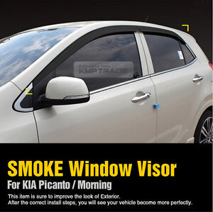 Image Is Loading Smoke Window Sun Vent Visor Rain Guards 4pcs