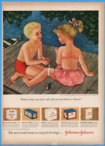 1950-Johnson-and-Johnson-Band-Aid-bandages-REd-Cross-gauze-pads-vintage-print-ad