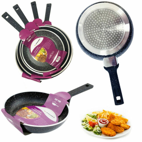 New Aluminium Non Stick Forged Marble Coated Frying Pan Kitchen Cooking Fry Pans