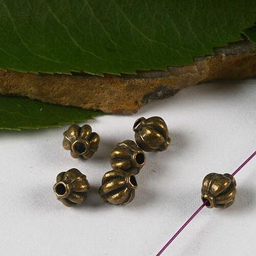 50pcs Bronze-Tone Spacer Beads h2910