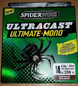 SpiderWire-Ultra-Cast-Ultimate-Mono-14-lb-330-yds-Brown-Recluse-Fishing-Line