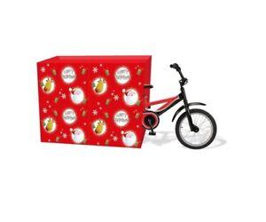 Jumbo-Christmas-Bicycle-Bike-Large-Present-Santa-Sack-Gift-Wrap-Cute-Bag-Tag-Kid