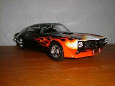 1:24 Johnny Lightning Ertl 1970 Pontiac Firebird diecast high detail Black/Flame