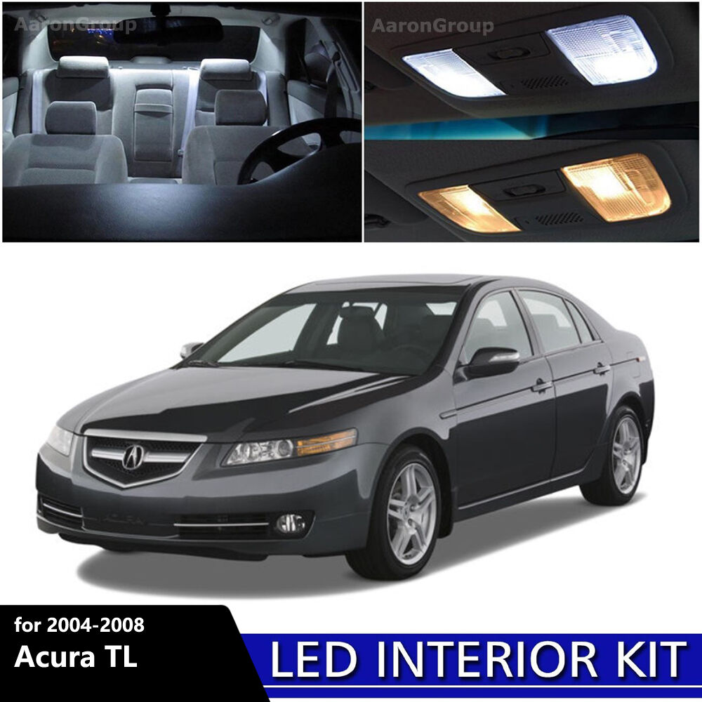 9PCS White Interior LED Light Package Kit For 2004
