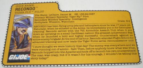 Hasbro 1982-1995 G.I YOUR CHOICE Vintage GI Joe ARAH File Cards Joe Cobra
