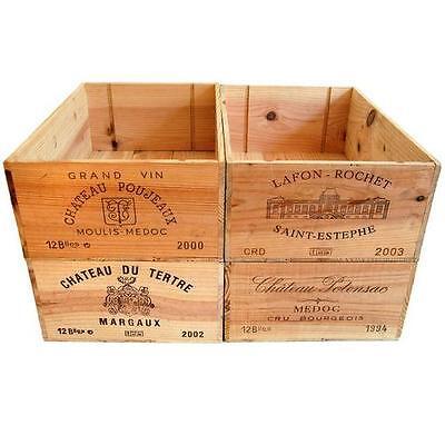 12 Flacone Di Dimensioni-vino In Legno Box Gabbia Per Vintage Shabby Chic Casa Stoccaggio * - *-mostra Il Titolo Originale