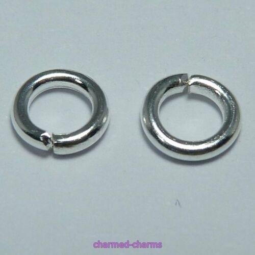 5x1.0mm Silver Plated Strong Brass Single Loop Open Jump Rings 18 Gauge Findings