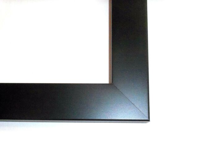 Flat Black Wood Poster Picture Frame-Custom Made Panoramic Sizes