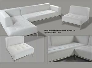 Miraculous Details About 2 Pc Modern Contemporary White Leather Sectional Sofa W Chrome Base 1008 Inzonedesignstudio Interior Chair Design Inzonedesignstudiocom