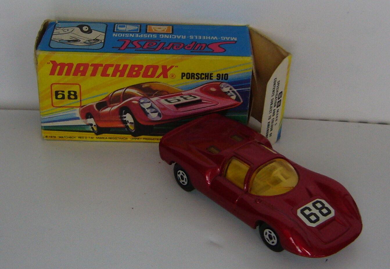 MATCHBOX-SUPERFAST-MB 68 PORSCHE 910-Neuf dans sa boîte