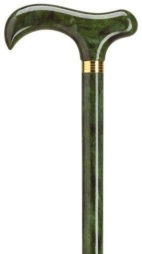 LADIES GREEN FERN MAPLE WOOD SLIM SHAFT WALKING CANE STICK CANES!! NEW