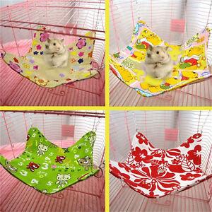 Pet Ferret Hamster Rabbit Squirrel Hanging Canvas Bed Hammock House Cage Mat