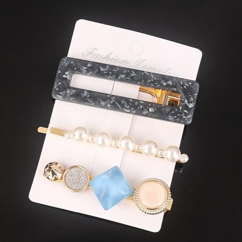 Fashion Set Women/'s Hair Slide Clips Snap Barrette Hairpin Pins Hair Accessories