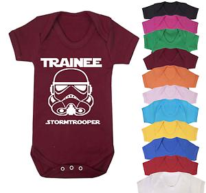 Original Stormtrooper Daddys Little Stormtrooper Babygrow Babysuit Short Sleeve