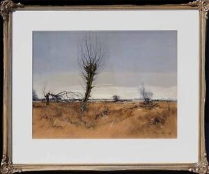 Verzeichneter-Maler-Heinrich-Weckauf-1885-1963-Rheinebene-bei-Kaiserswerth-xxx