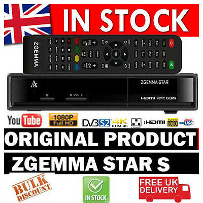 NEW Zgemma Star S HD DVB SINGLE ONE TUNER Linux OPS Internet Satellite Receiver