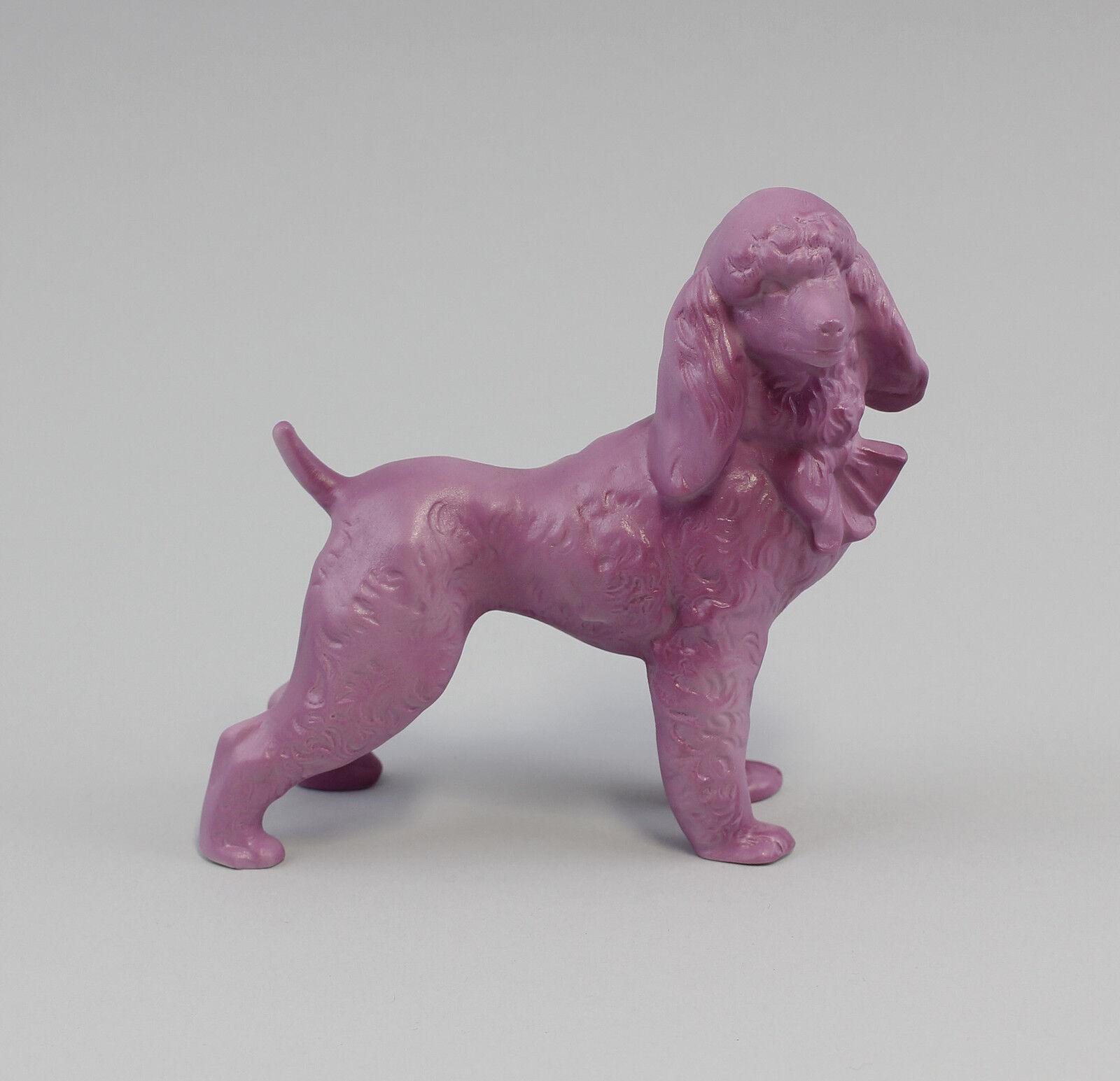 9943171 Porzellan  Figur Pudel-Dame lilat Reichenbach H12cm