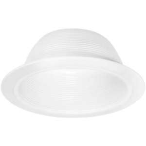 Recessed Can Light Trim - 6 Inch Stepped White Baffle Trim - Replaces Halo 310W