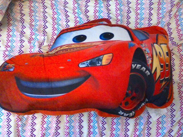 Disney Pixar Cars Lightning Mcqueen Sleeping Bag For Kids With Figural Backpack