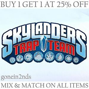 Image is loading SKYLANDERS-TRAP-TEAM -FIGURES-Compatible-with-SUPERCHARGES-amp-