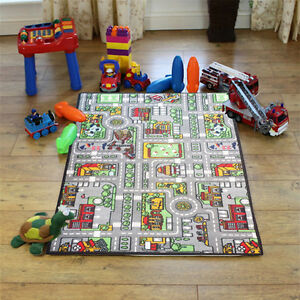 Image Is Loading Childrens City Road Rugs Town Cars Map Play