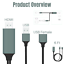 thumbnail 3 - 1080P HDMI Mirroring Cable 6Ft Phone to TV HDTV Adapter For iPhone iPad Android